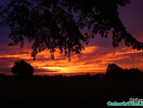 Zonsondergang Helmond