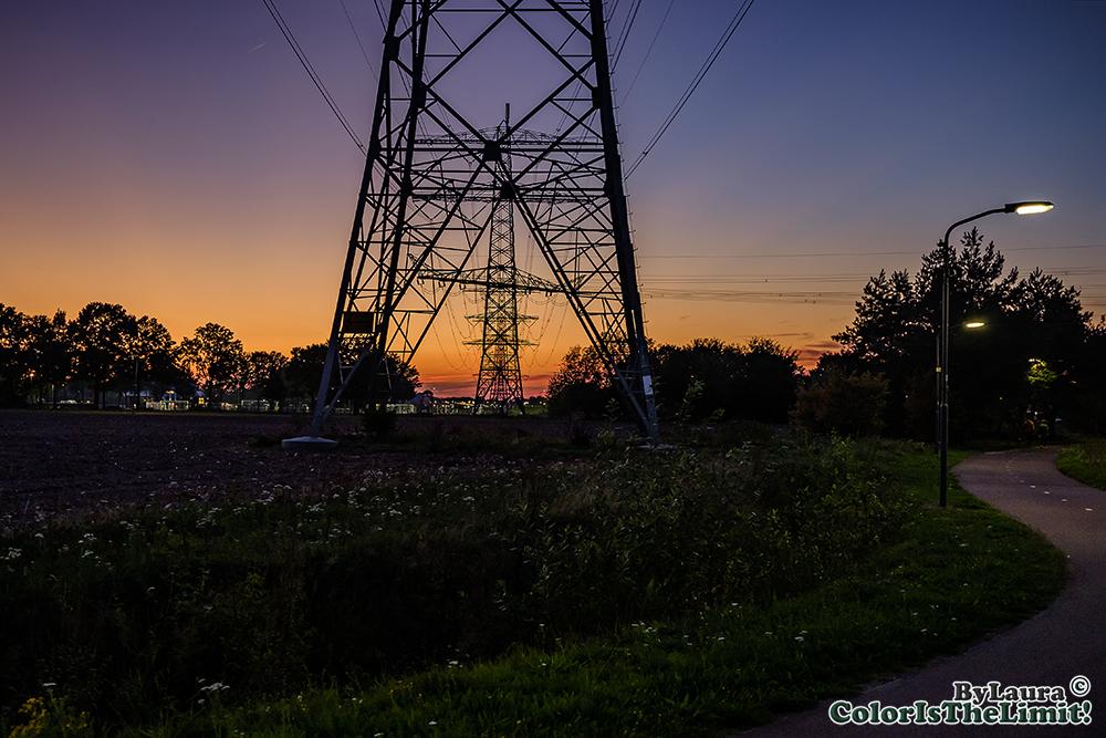 zonsondergang Brandevoortse Dreef
